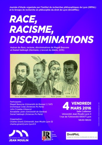 Affiche Race, racisme, discriminations